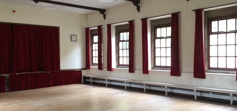 Lothersdale Village Hall - empty hall